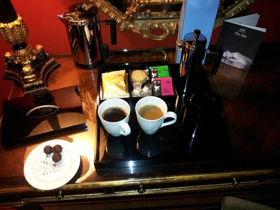 Merchant Hotel: Coffee and tea making facilities and homemade chocolate truffles