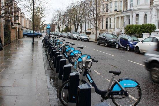 Hilton London Olympia: Bikes always available