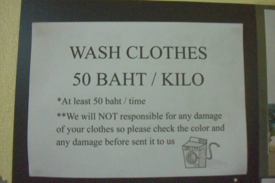 D's Corner & Guesthouse: Wash Clothes condition