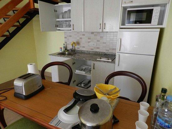Playamar Bungalows: Cucina