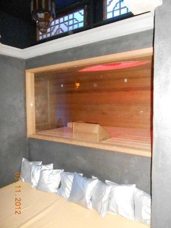 Casa Verde: turkse sauna met zicht op tv