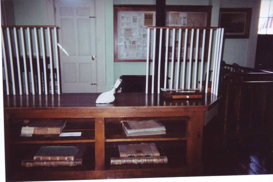 Jesse James Bank Museum: Behind the Bank Counter
