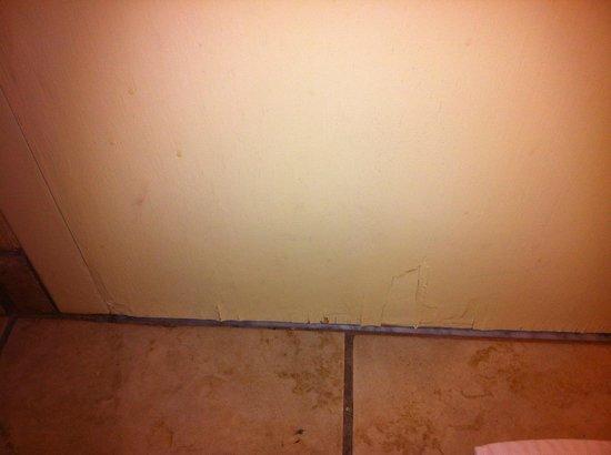 Doubletree Hotel Holland: Bottom of Bathroom Door