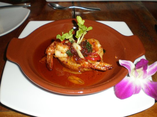 Nikki Beach Resort Koh Samui: Shrimp appetizer