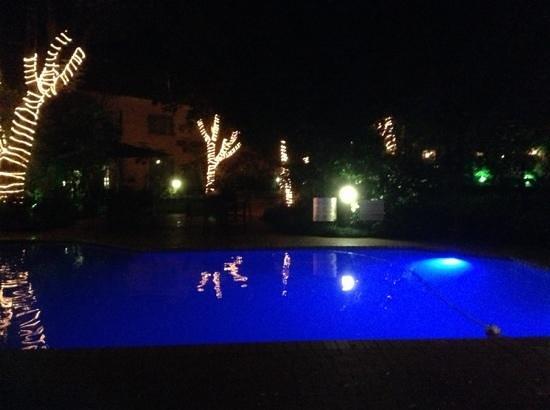 بروتيا هوتل بالالايكا ساندتون: Main swimming pool by night