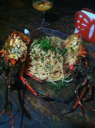 Oasis Surf Camp : Lobster pasta at resto. To die for.