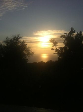 """Rainbow Plantation B&B: sunset from the """"jungle queen"""" room"""