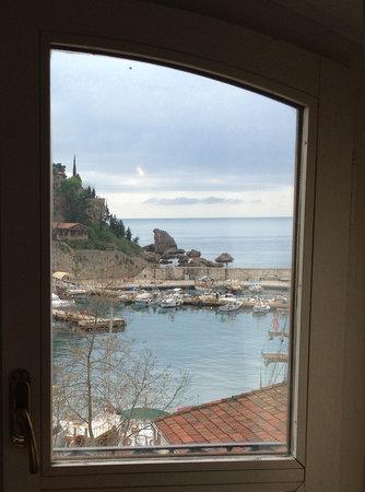 Tutav Adalya Hotel: Utsikt fra frokostsalen på hotellet