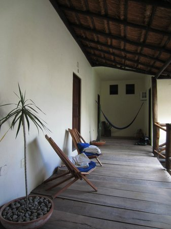Lo Nuestro Petite Hotel: Patio and hamac