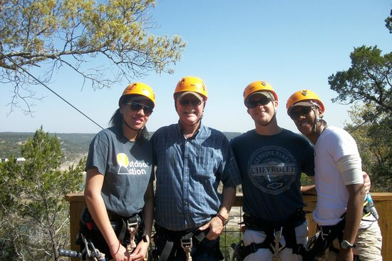 Lake Travis Zipline Adventures: Tanaya, me (Bill), Billy, & Jonna.