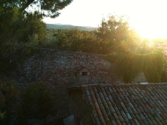 Hotel Il Villino: Blick aus dem Badezimmer....