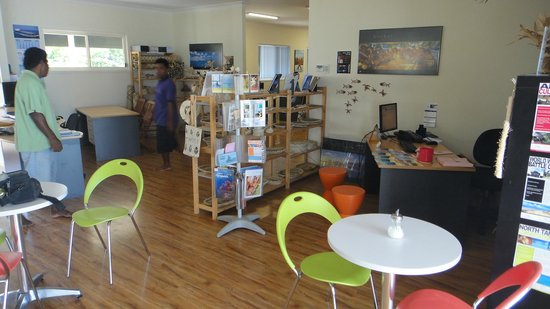 Chatterbox Cafe: inside kiribati holidays office
