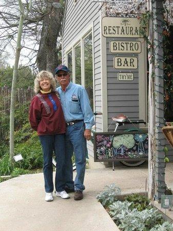 At the Farm Haus Bistro, Fredericksburg