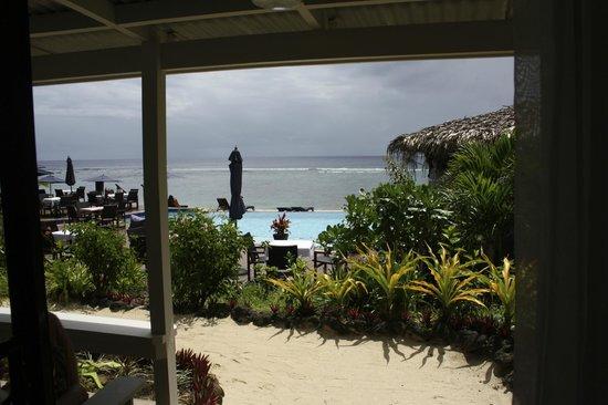 Manuia Beach Resort: View front beach front villa