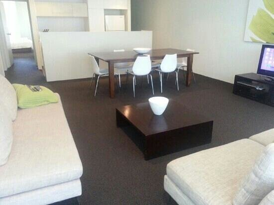 Coast Resort Merimbula: lounge area in a one bedroom apt