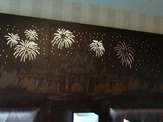 Disneyland Hotel: Firework Headboard