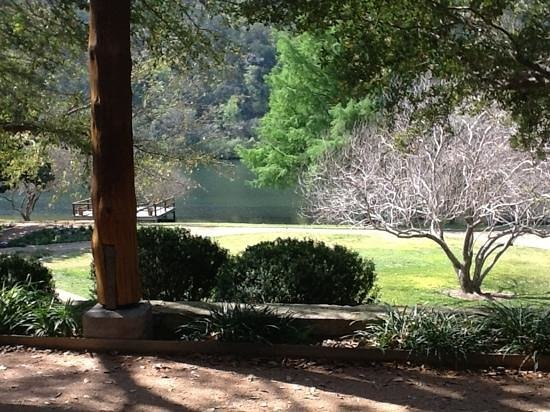 Lake Austin Spa Resort: The view from my verandah at Lake Austin.