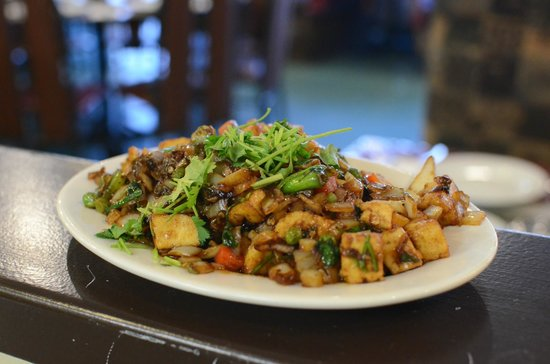 Green Lettuce: Paneer with Black Bean Sauce