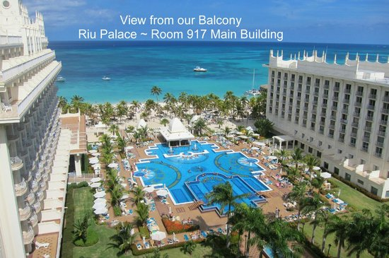Hotel Riu Palace Aruba: View from our Balcony Room 917