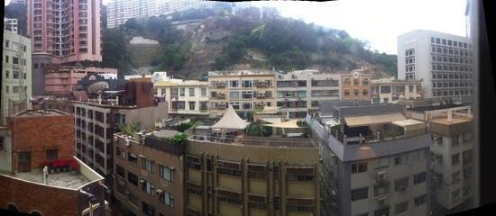 The Emperor Happy Valley Hotel: panoramic view from hotels window