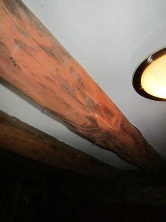 Hotel Monte Campana: Goteando agua sucia desde el cuarto de arriba