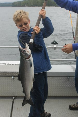 Experience One Charters: kid size salmon