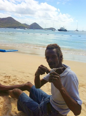 The Landings St. Lucia: Mr. Jason who made whatever you wanted with his wire. Truly a find.