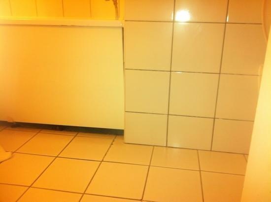 Ibis Metz Nord: dessous de baignoire non fermé