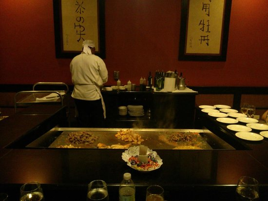 Luxury Bahia Principe Esmeralda Don Pablo Collection: Victor cooking at the Miako Japanese Restaurant at the Bavarro