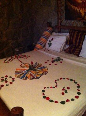 Kuriftu Resort: bed decoration