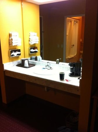Parkfield Inn Warsaw: sink area separate for convenience