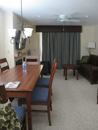 Jay Peak Resort: dining/living room in condo