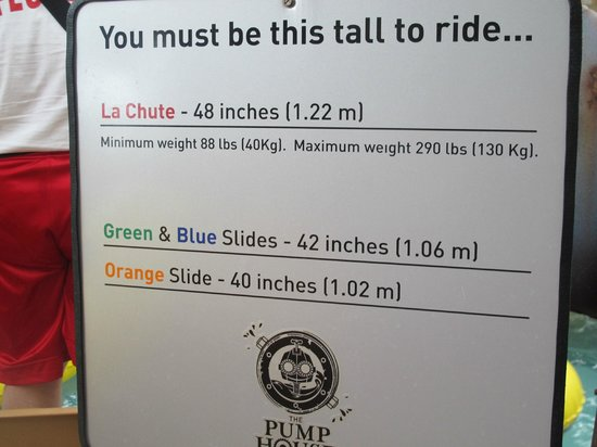 Jay Peak Resort : height/weight requirements for the slides