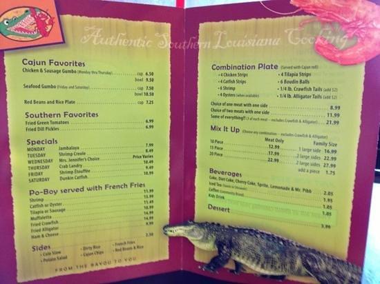 Flavors of Louisiana: The menu