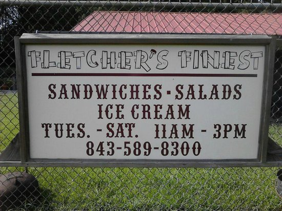 Fletcher's Finds: They have Sandwiches, Salads, Specials, and Icecream!!