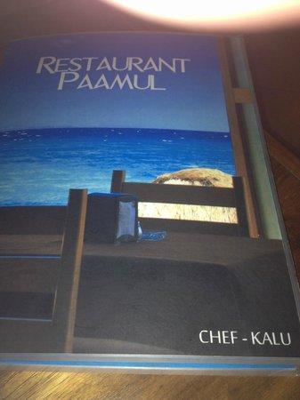 Restaurant Paamul: Menu