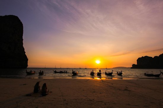 Railay strand: Sunset