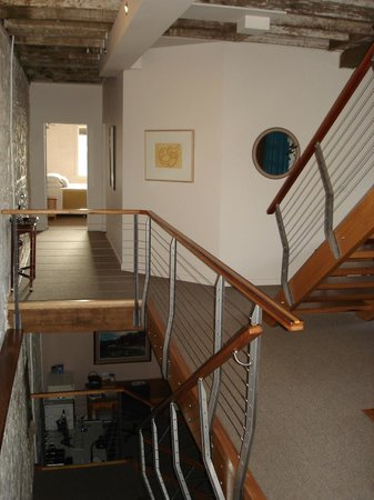 Bluestone Grain Store: First floor and stairs to ground level