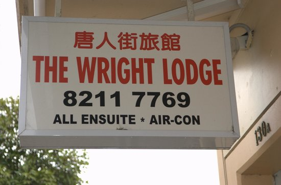 The Wright Lodge: sign