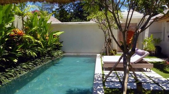 Villa Bali Asri Batubelig: la grande piscine en pierre