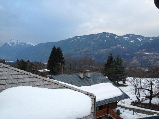 Hotel Restaurant La Boule de Neige : vue depuis la chambre