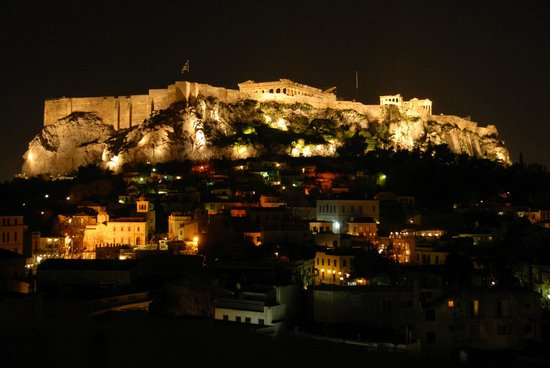 "Central Athens Hotel: from ""Acropolis view"" room, or roof top"
