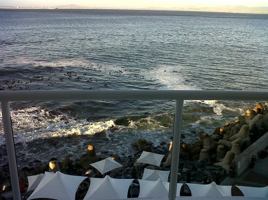 Radisson Blu Hotel Waterfront, Cape Town: View of the sea starting right below our room's deck