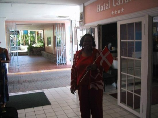 Hotel Caravelle on St. Croix: Hotel Manager welcoming us