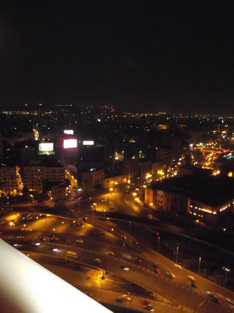Ramses Hilton: night time view from the room