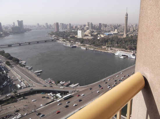 Ramses Hilton: day time view from the room