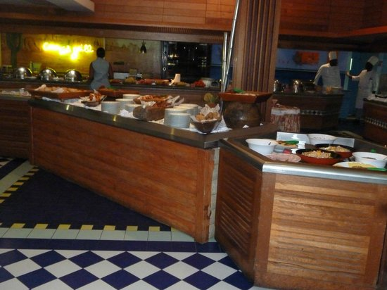 La Creole Beach Hotel & Spa: coin buffets