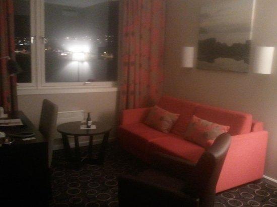 Scandic Hammerfest: Sitting area with sleep sofa