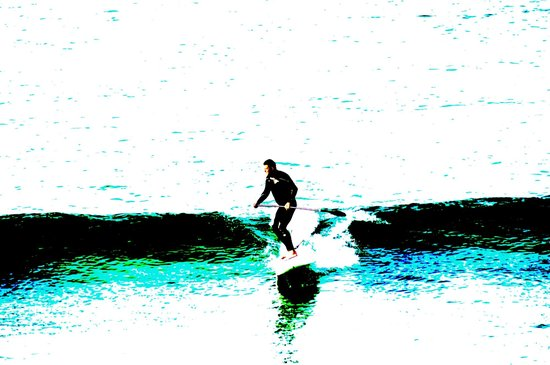The Keep: Early morning surfer, Porthmeor Beach