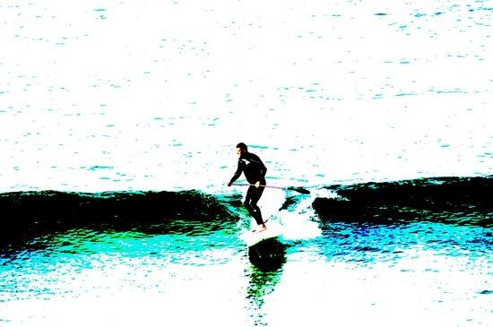 The Keep: Early morning surfer, Porthmeor Beach